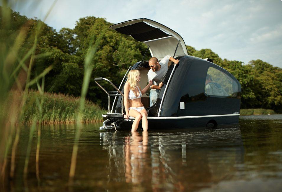 Sealander towed camper: it's a boat too