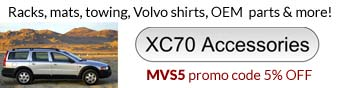 Volvo XC70 accessories, parts and gifts