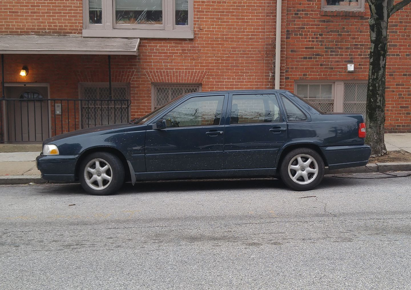 A blue 1998 Volvo S70, nothing more, nothing less