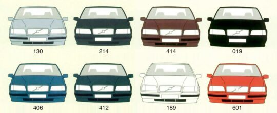 A List of Volvo Paint Colors and Their Codes