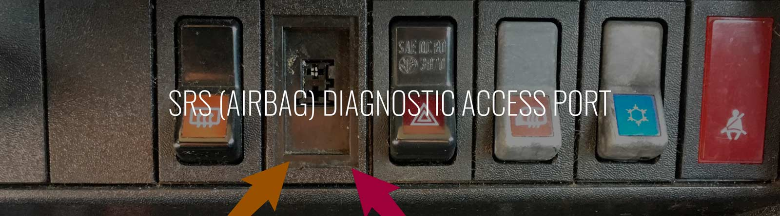 Srs (airbag) Diagnostic Access Port -