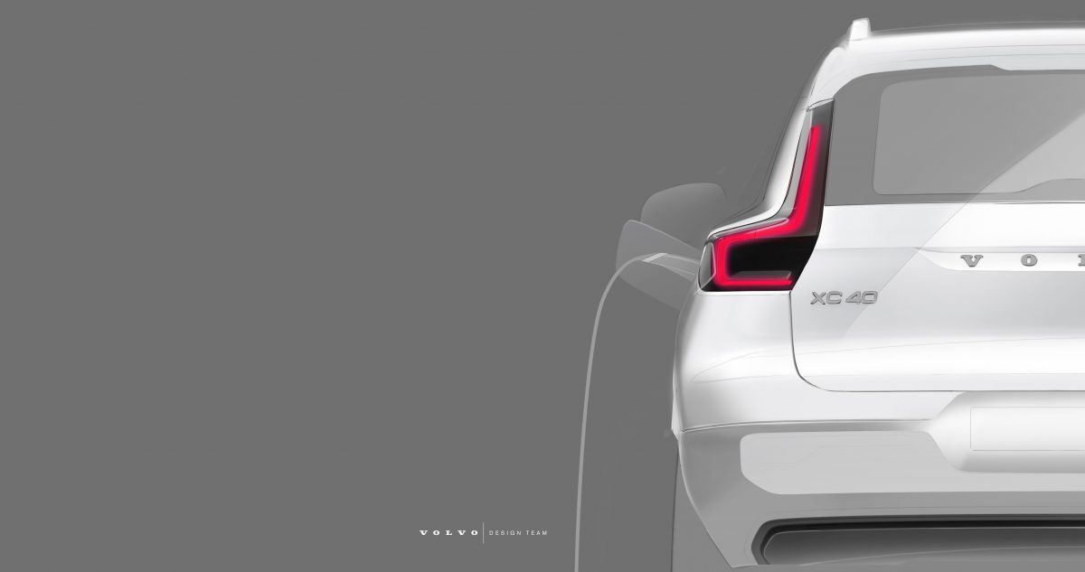 Volvo XC40 Bev Design Sketch -  Technology, Corporate, Design, Exterior, Detail, Images, Electrification, New XC40, 2019, 2020 XC40