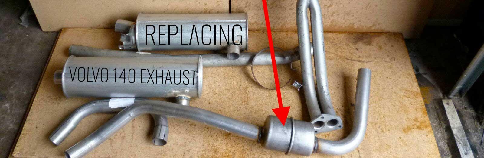 Replacing Volvo 140 Exhaust -