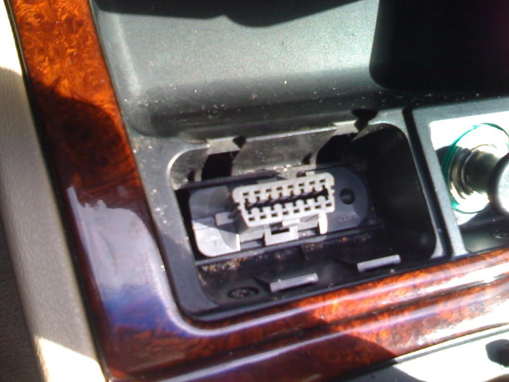 OBD-II port inside a Volvo 850