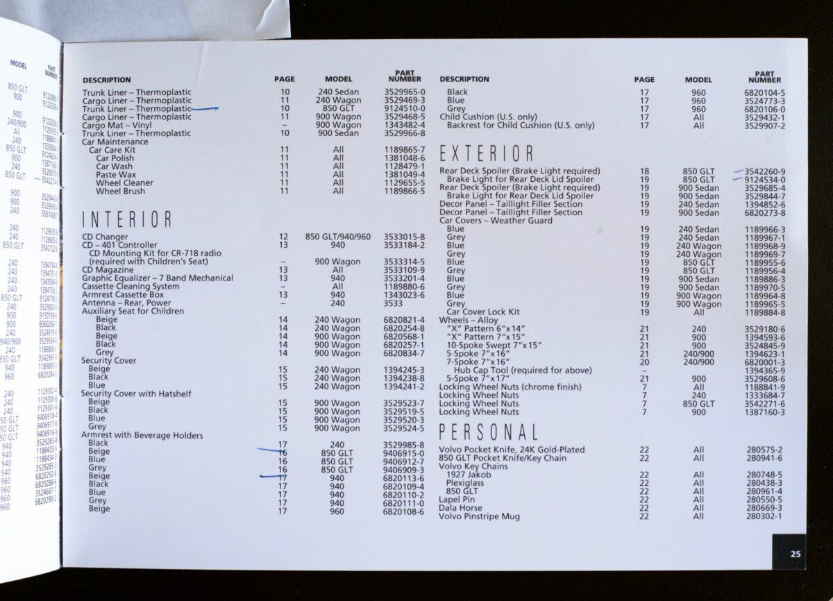 1993 850 Dealer Installed Options 26 1