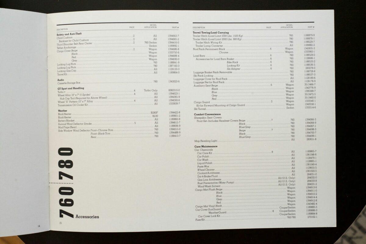 1988 Volvo Accessories Catalog 13