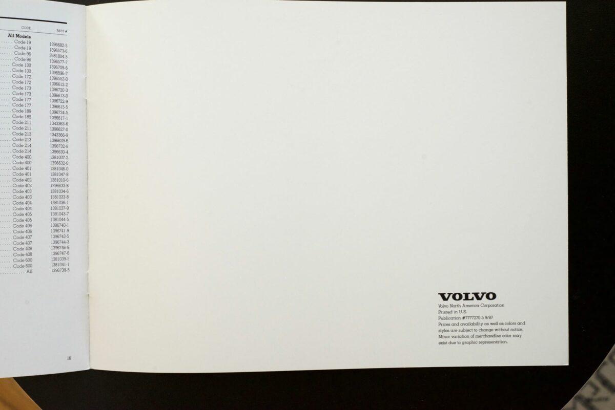 1988 Volvo Accessories Catalog 5
