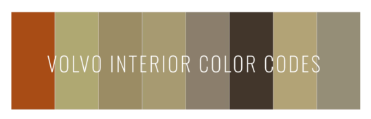 Volvo interior color codes