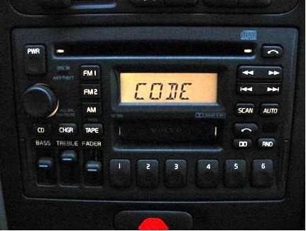 Volvo Radio Codes Explained