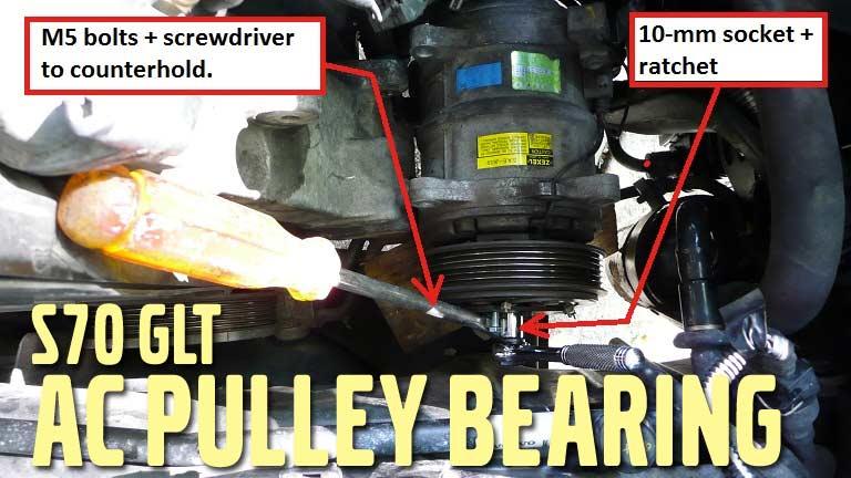ac pulley bearing diy