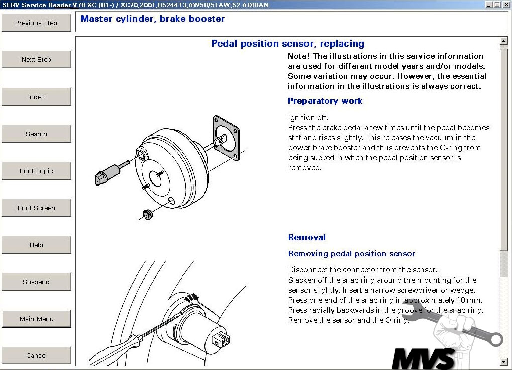 Brake Pedal Sensor Replacement