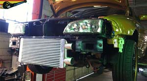 intercooler installed in Volvo C70 T5