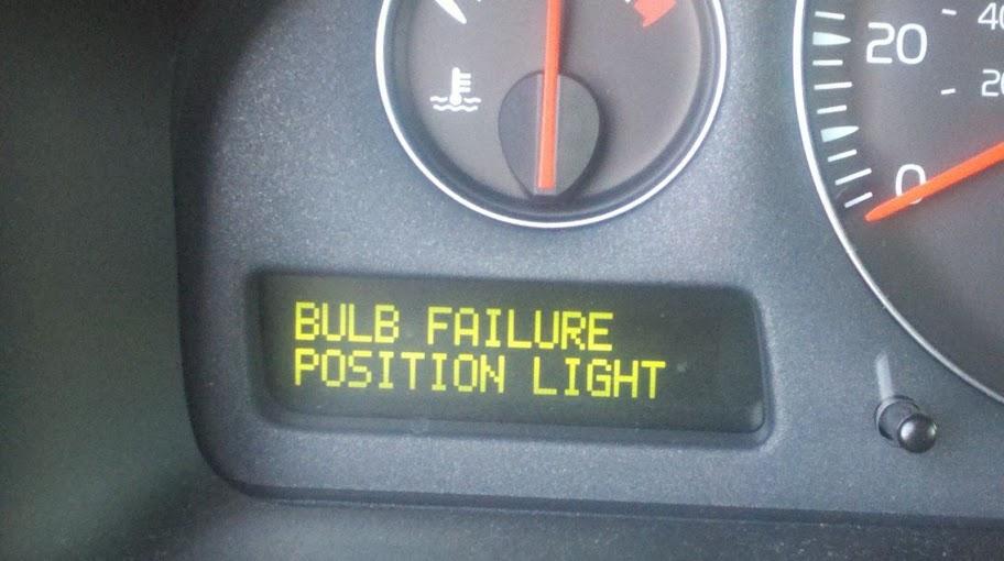 Volvo Bulb Failure Position Light