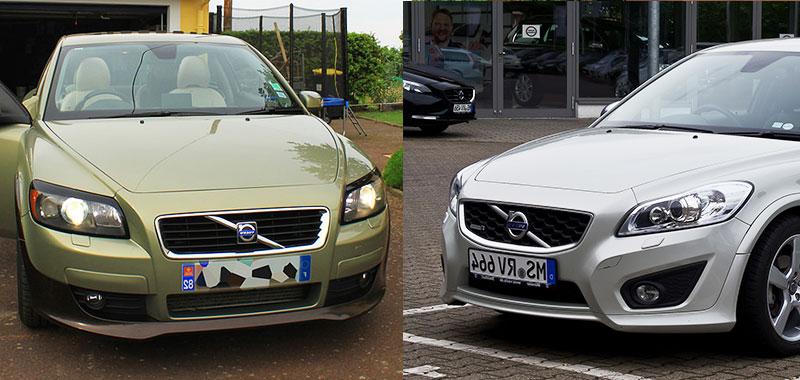 comparison resize - Volvo C30