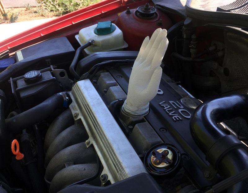 crankcase pressure glove test
