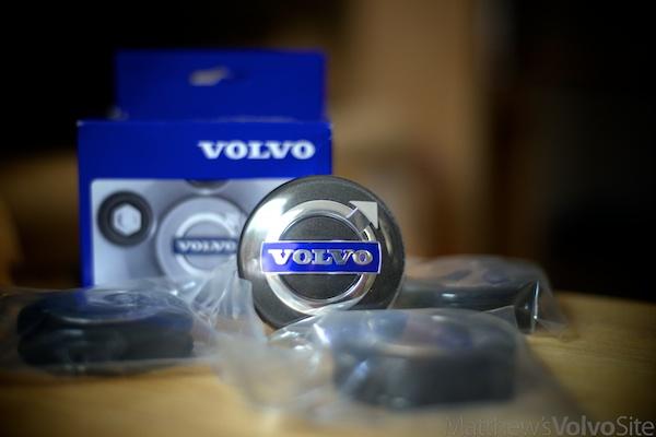 Volvo graphite-center-caps