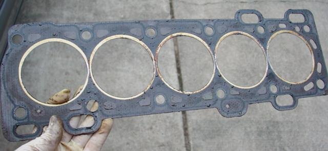 head gasket old gasket - How To Replace The Head Gasket On A Volvo 850