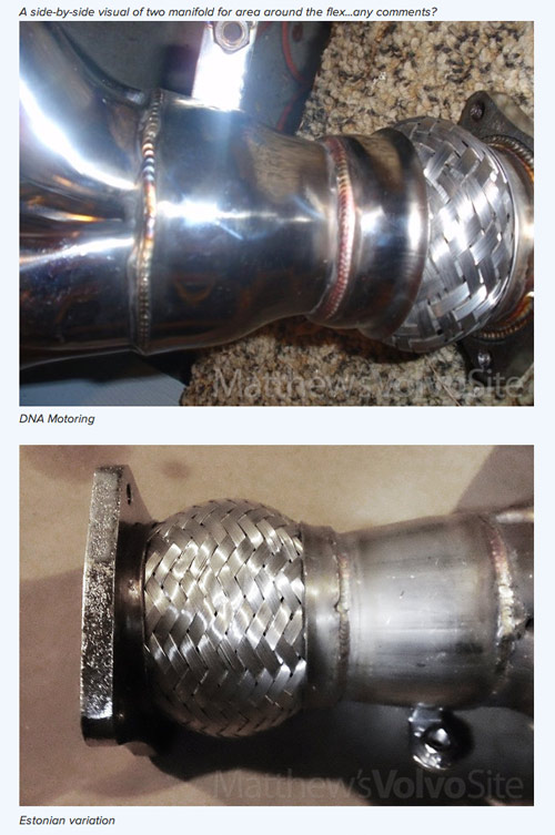 exhaust header difference in weld and material quality
