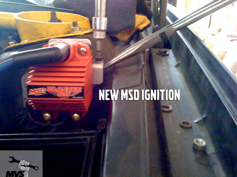 MSD ignition coil install photo