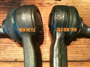 Volvo outer tie rod replace DIY