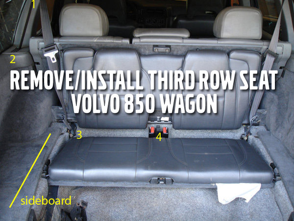 Remove/Install Third Row Seat