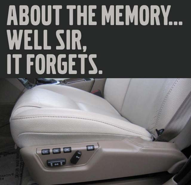 s80 memory seats forget