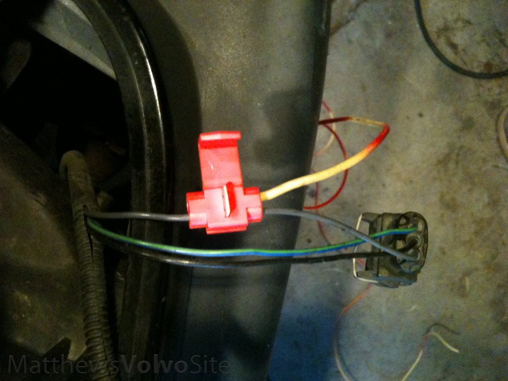 Side Marker Light Installation Diy 83 Volvo Wiring Harness Splice Into Grey Wire And Green Blue Your Wires Colors May Differ With Several Meters Yards Measure It Out Of 18 Ish Gauge My Is
