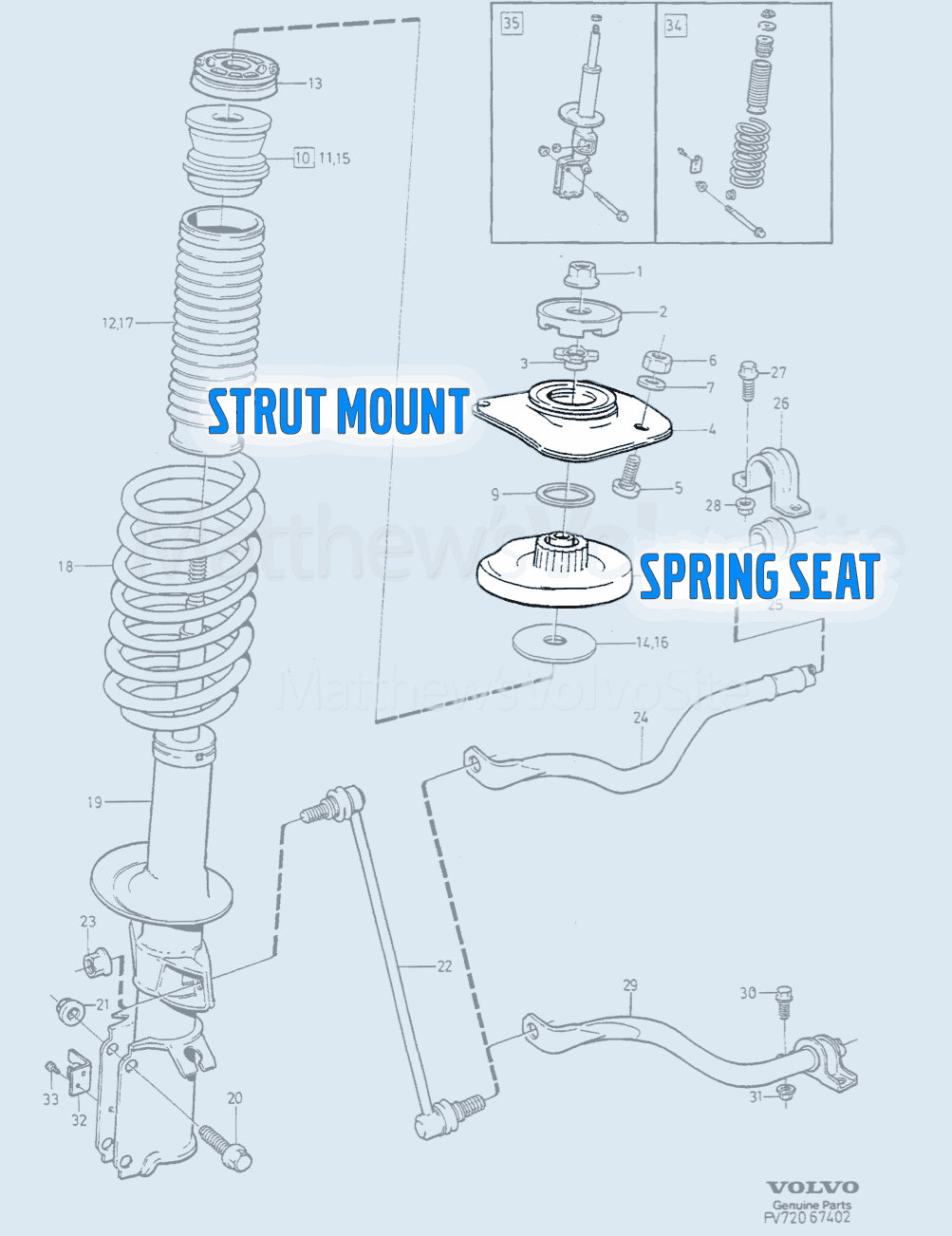 Strut mount or spring seat? Here's how to know.