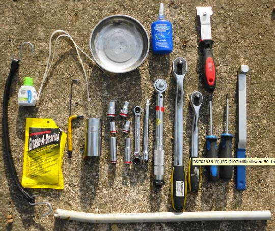 Tools for the 33-Step Timing Belt Replacement