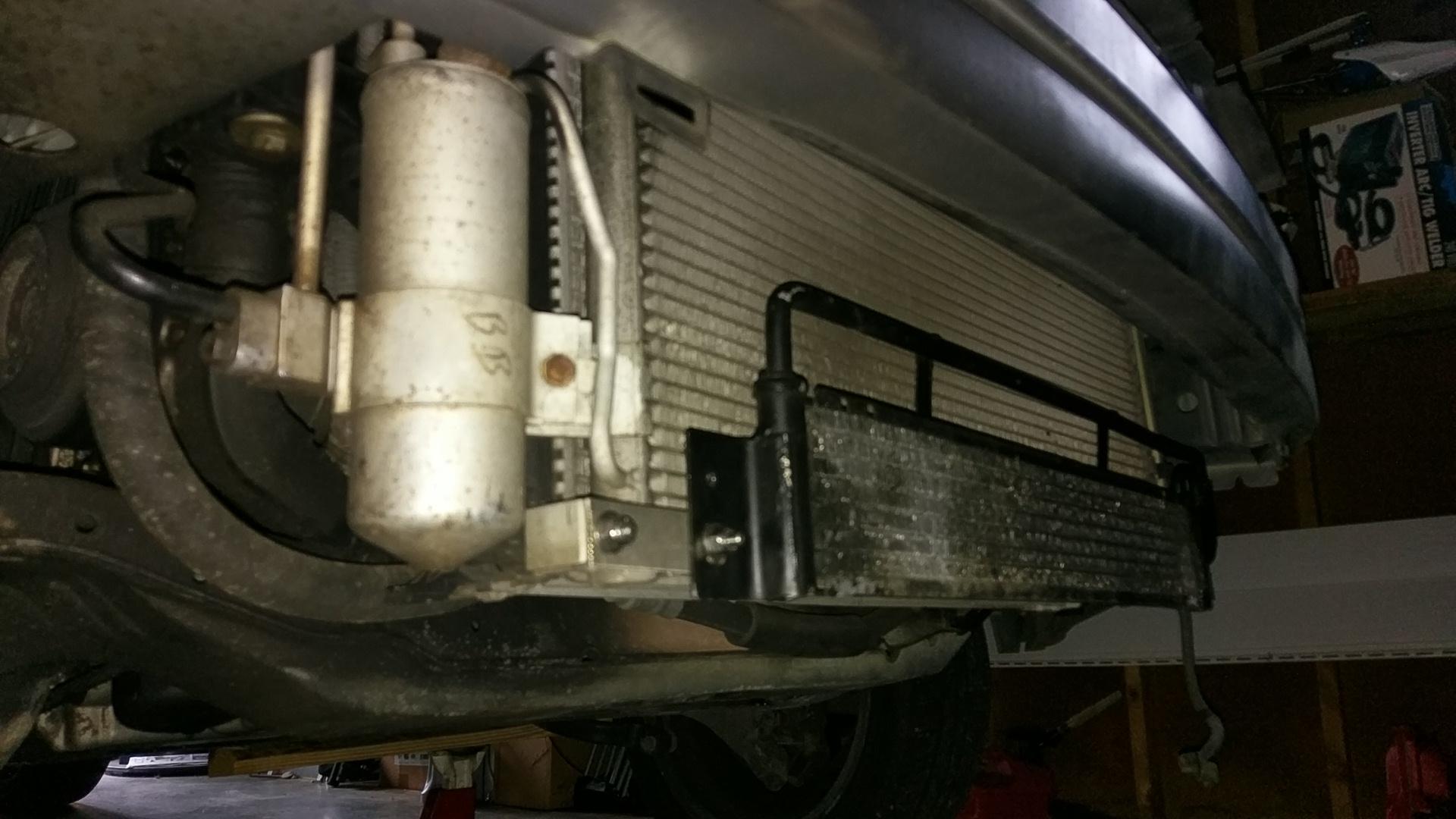V70 transmission cooler installed