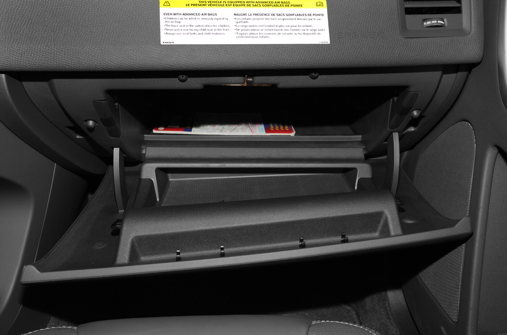 volvo glove box