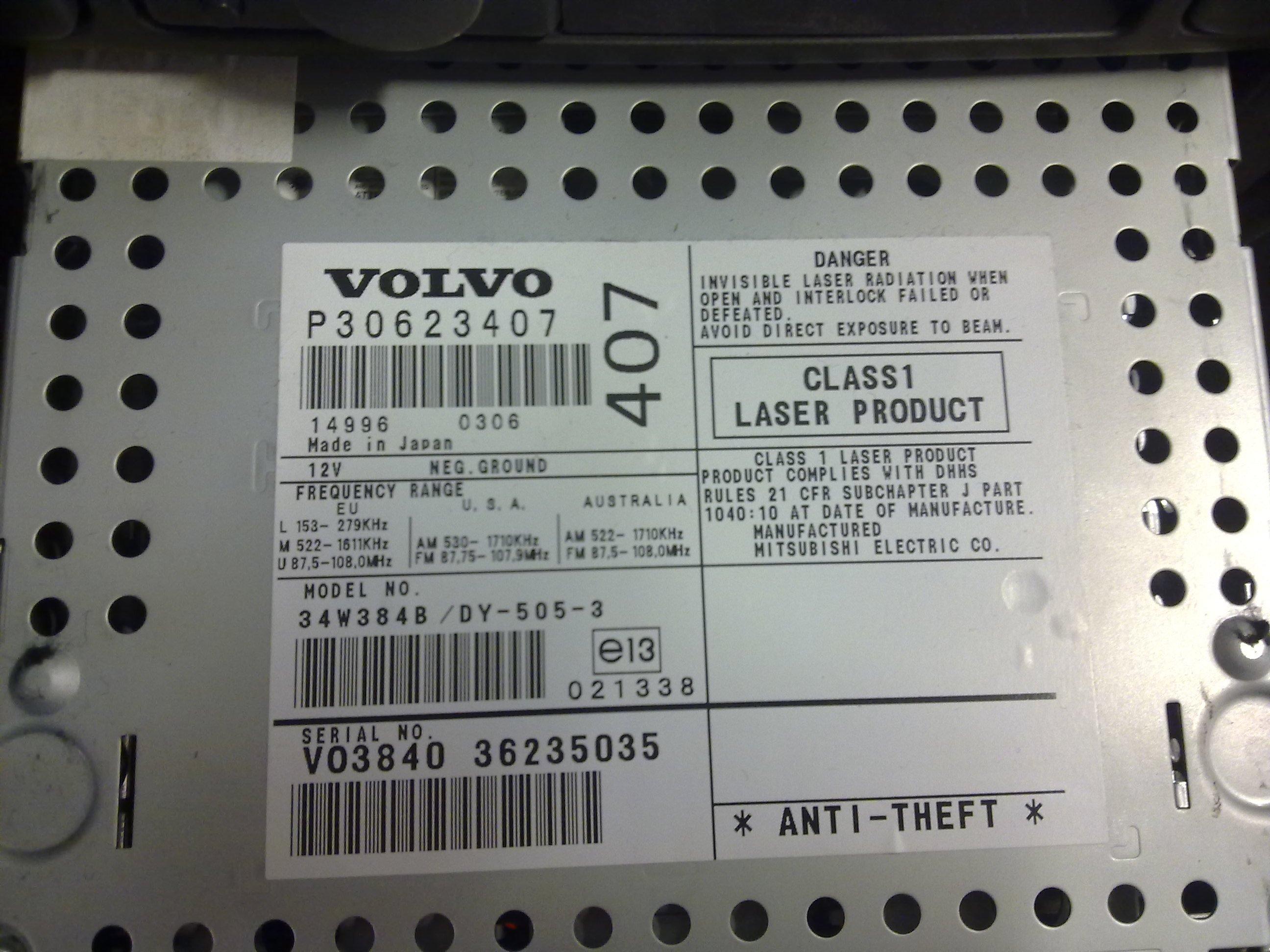 Volvo VIN
