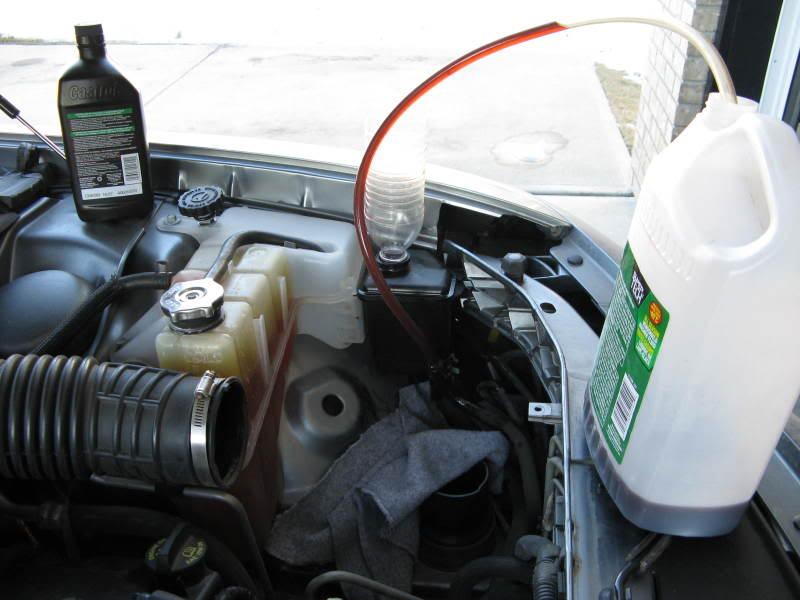 volvo steering pump flush