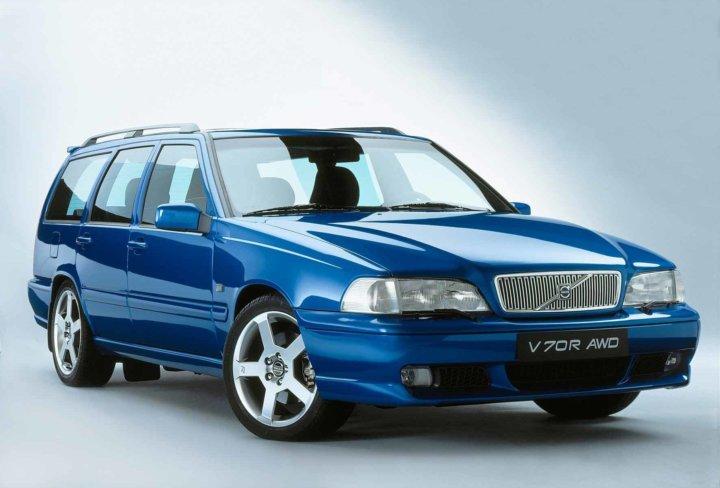 Laser Blue Volvo V70 R -
