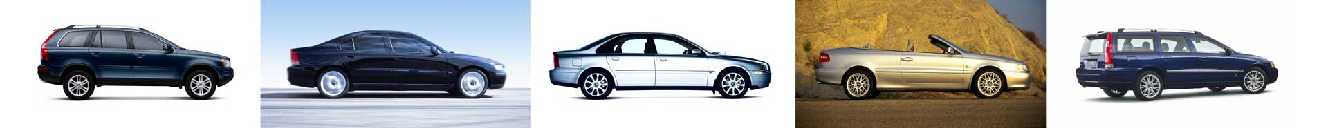 P2 Family exteriors - XC90, S60, S80, C70, XC70