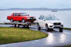 Pehr G Gyllenhammar's 1981 Volvo 262c On A Trailer Behind The New Xc90