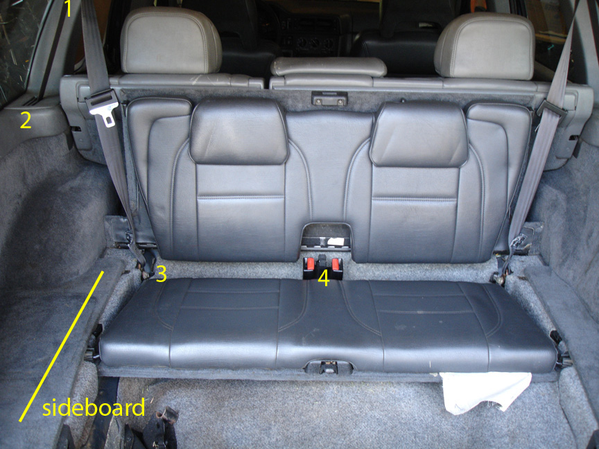 Removing the third row seat