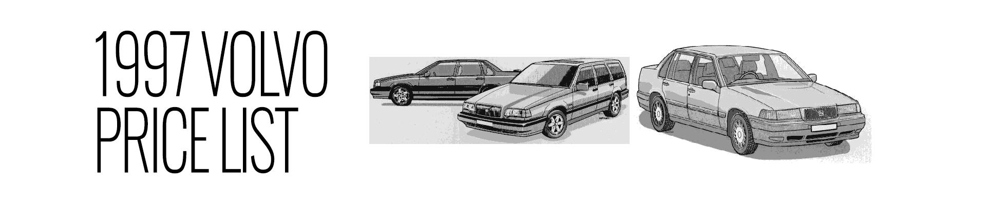 1997 Volvo Price List -