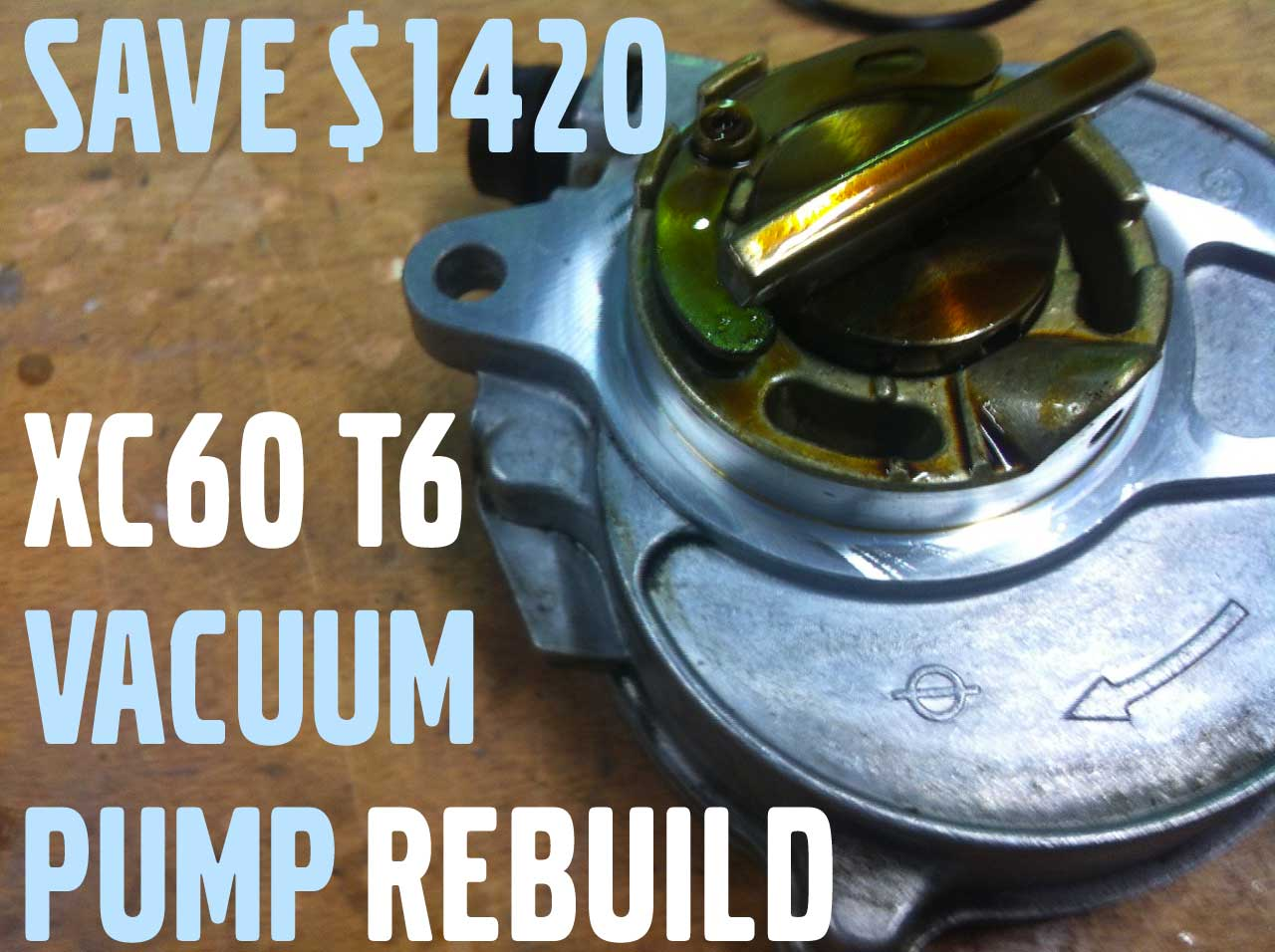 XC60 Vacuum Pump rebuild DIY - step-by-step with photos