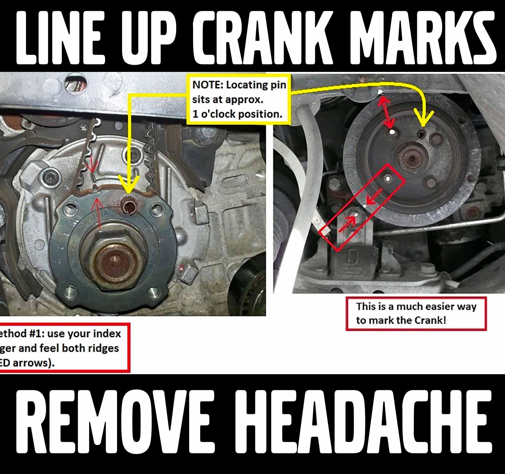 Line Up Crank Marks