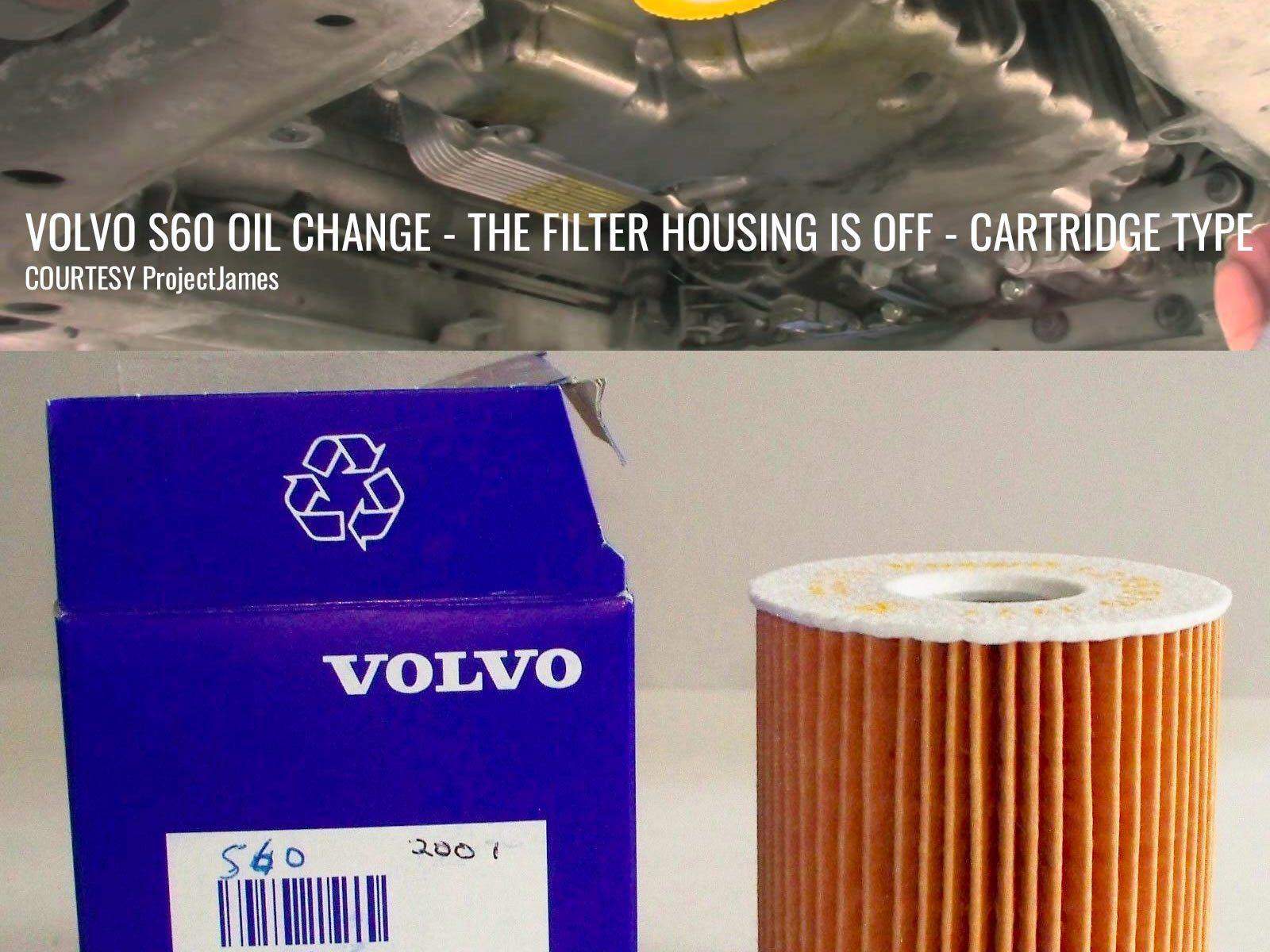 P2 S60 Oil Filter In Situ No Housing