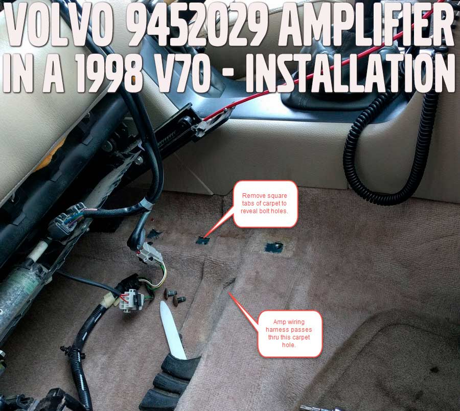 1998 Volvo V70 part #9452029 Amplifier Install