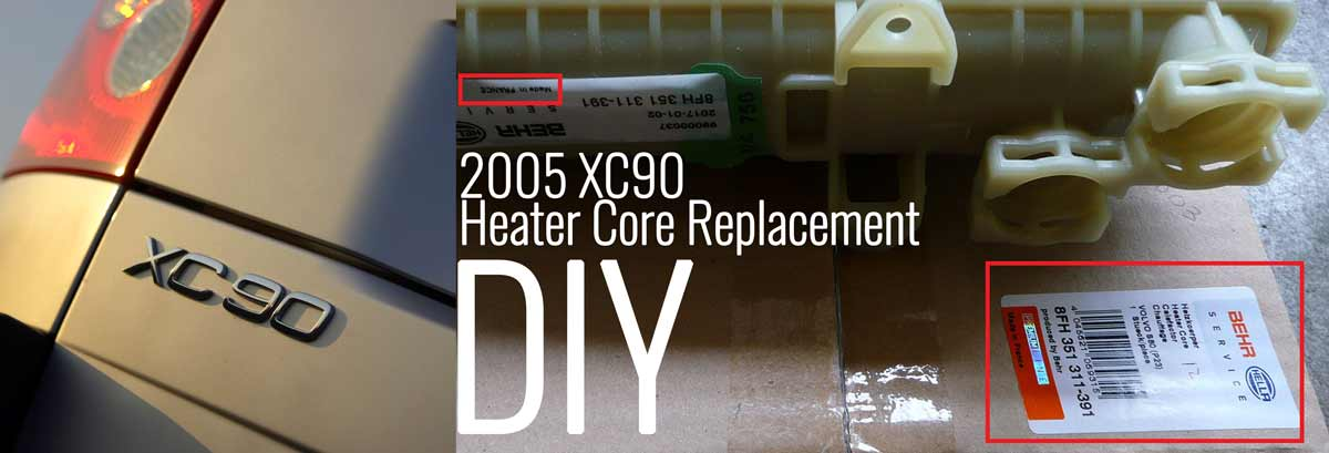 2005 XC90 Heater Core DIY