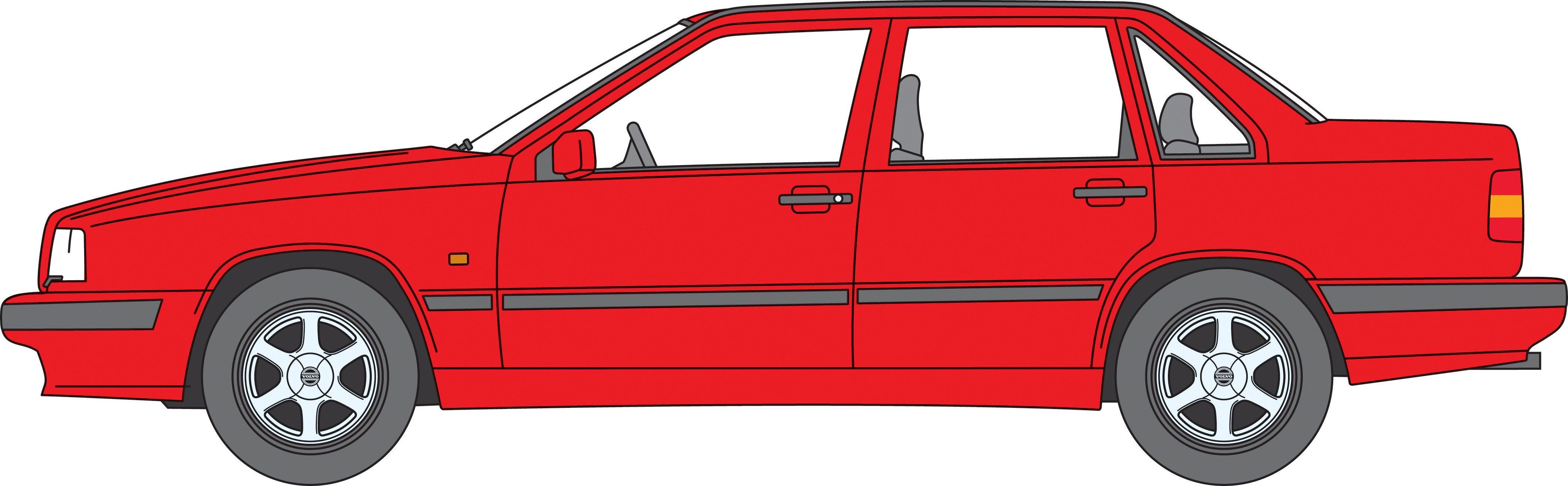 Volvo 850 -  850, 854, base, red, sedan