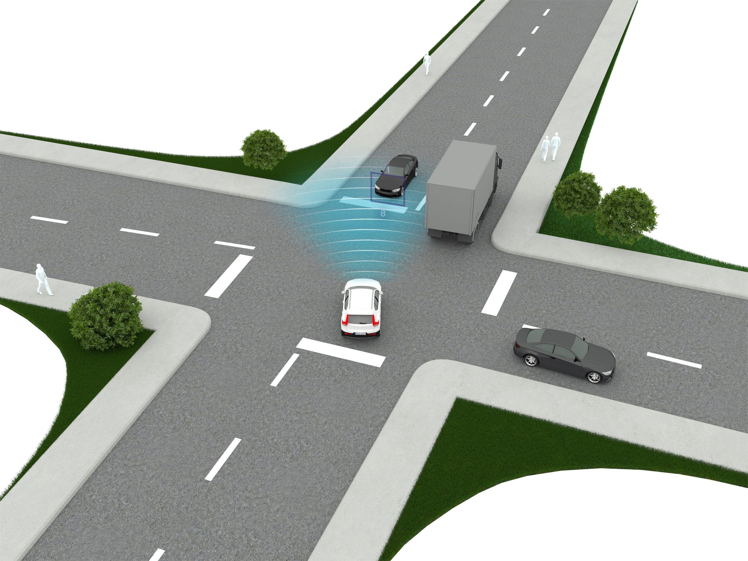 New Volvo XC40 City Safety Intersection -  2017, 2018, 2018 New XC40, Illustration, New XC40, Safety, Technology