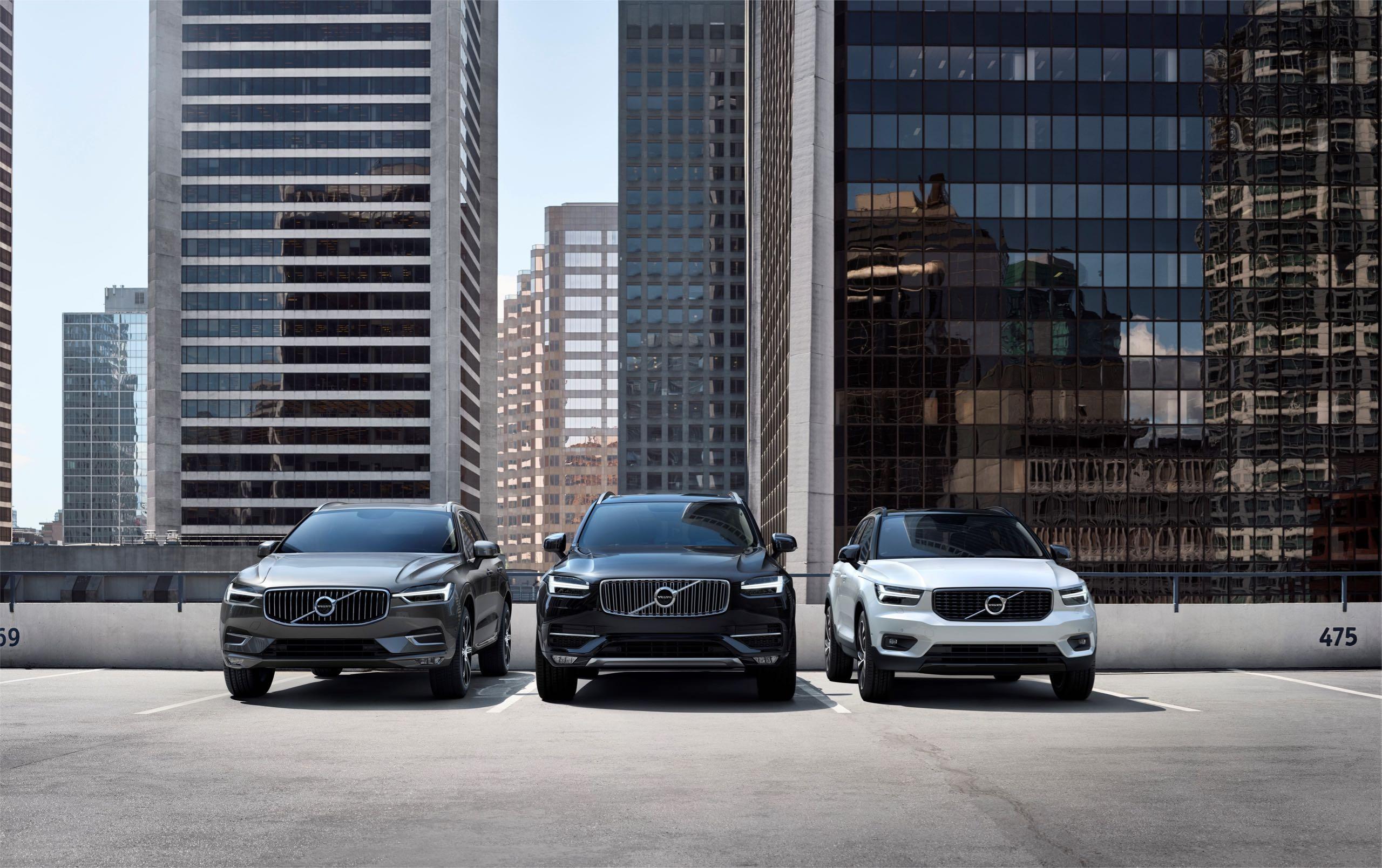 Volvo Cars' Suv Line Up -  2018, 2018 New XC40, 2018 New XC60, 2018 XC90, Exterior, Images, New XC40, New XC60, XC90
