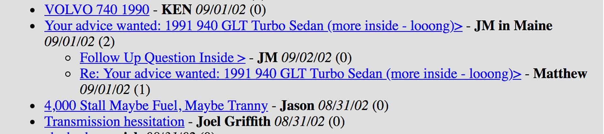 2002 Volvo Forum Questions2 -