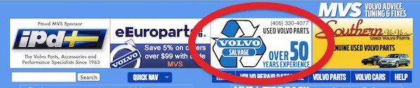 Volvo Salvage is an MVS Sponsor
