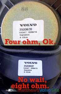 Volvo 850, S70, V70, XC70 speakers